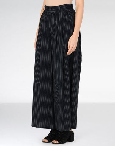 MM6 MAISON MARGIELA Casual pants Woman Oversized cotton stripe trousers f