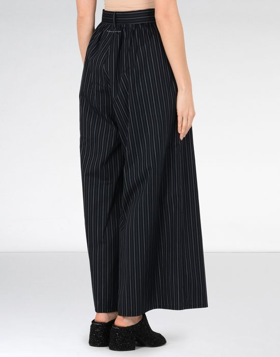 MM6 MAISON MARGIELA Oversized cotton stripe trousers Trousers [*** pickupInStoreShipping_info ***] d