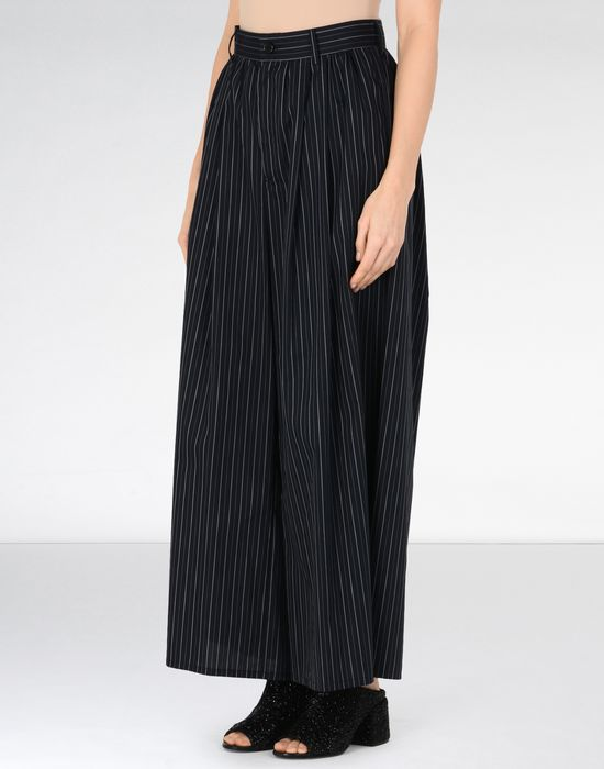 MM6 MAISON MARGIELA Oversized cotton stripe trousers Trousers [*** pickupInStoreShipping_info ***] f