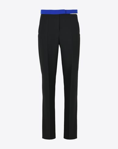 MAISON MARGIELA Trousers Woman Wool trousers with contrasting waistband f