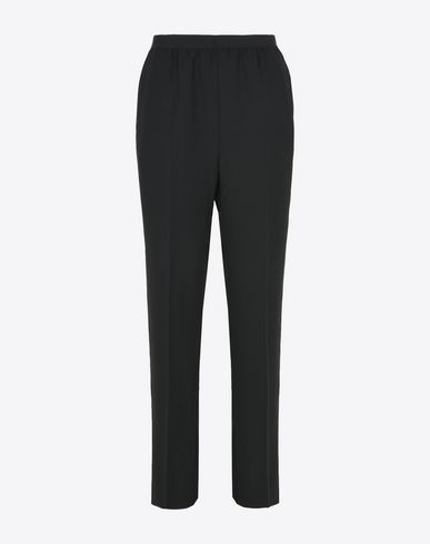 MAISON MARGIELA Trousers Woman Pin-stripe cotton blend trousers f