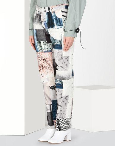 MM6 MAISON MARGIELA Jeanshose Damen Jeans mit Patchwork-Aufdruck f