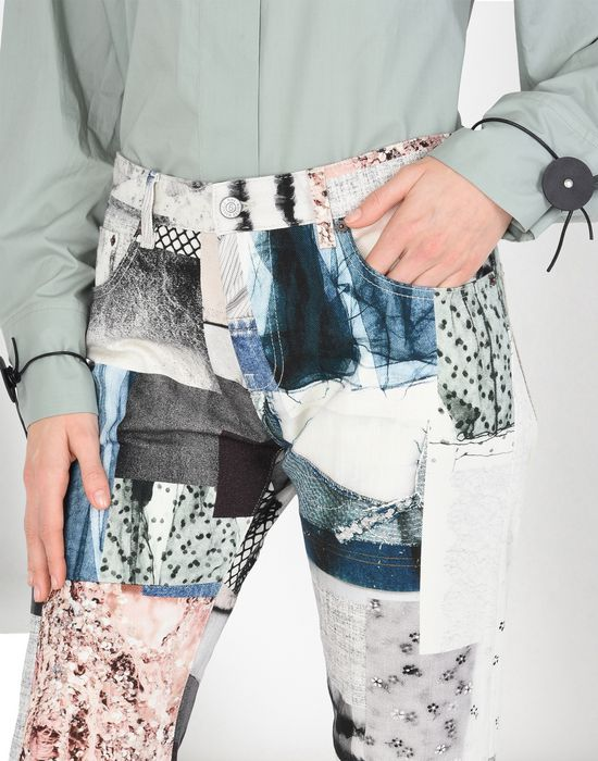 MM6 MAISON MARGIELA Patchwork print jeans Jeans [*** pickupInStoreShipping_info ***] e