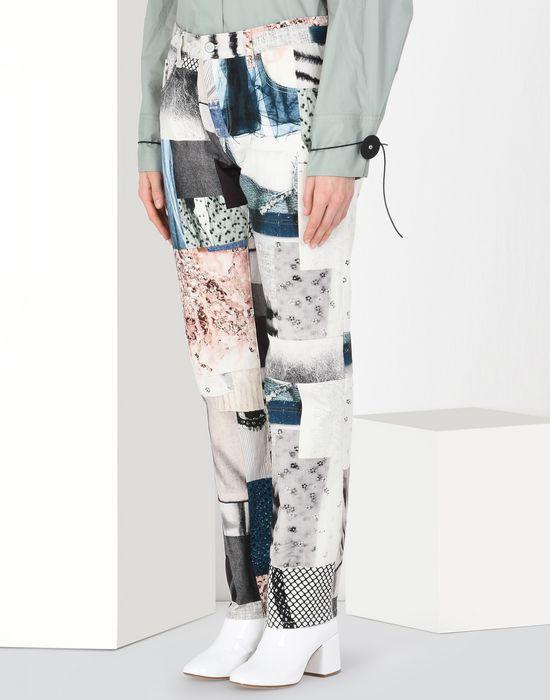 MM6 MAISON MARGIELA Patchwork print jeans Jeans [*** pickupInStoreShipping_info ***] f