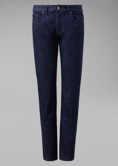 Stretch cotton five-pocket jeans