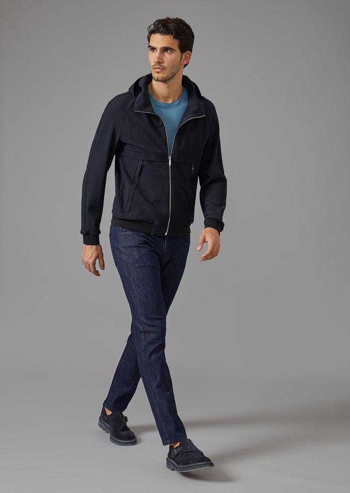 GIORGIO ARMANI Stretch cotton five-pocket jeans Slim Jeans Man d