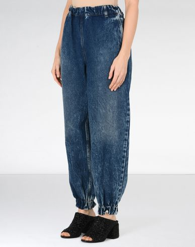 MM6 MAISON MARGIELA Jeans Woman Denim track pants f