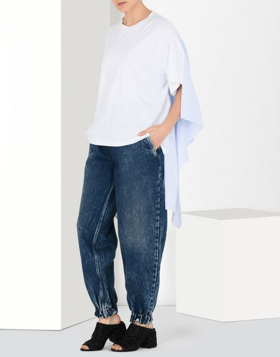 MM6 MAISON MARGIELA Denim track pants Jeans Woman r