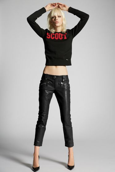 DSQUARED2 Leather pants Woman S75KA0822SY0460313 b