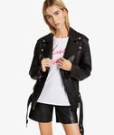 KARL LAGERFELD Leather & Suede Shorts 8_e