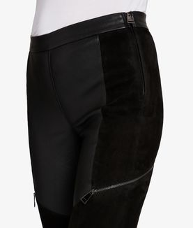 KARL LAGERFELD LEATHER & SUEDE LEGGING