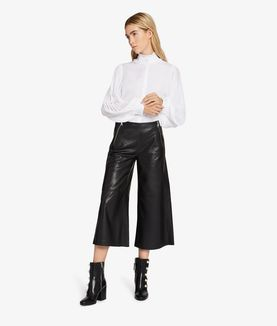 KARL LAGERFELD LEATHER CULOTTE