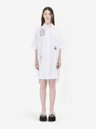 Embroidered Tarot Card Shirt Dress