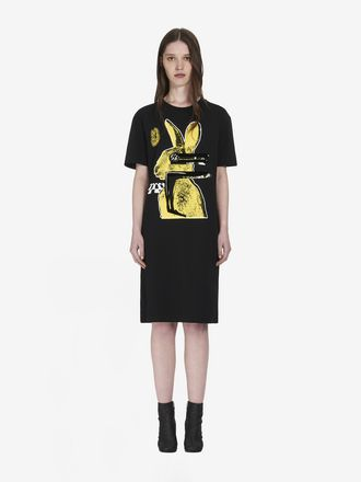 T-Shirt-Kleid Glitch Bunny