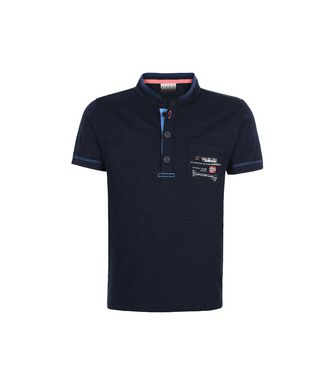 NAPAPIJRI K EOX KID KID SHORT SLEEVE POLO,DARK BLUE