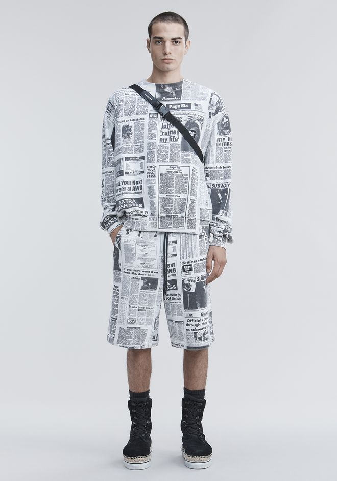 ALEXANDER WANG new-arrivals PAGE SIX NEWSPAPER SWEAT SHORTS