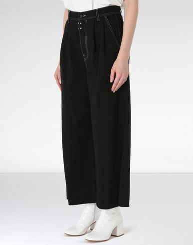 MM6 MAISON MARGIELA Casual pants Woman Flared cotton trousers f