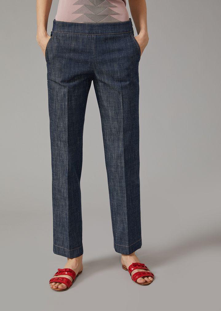 1a2fb21d8 Pantalones chinos de gabardina | Mujer | Giorgio Armani