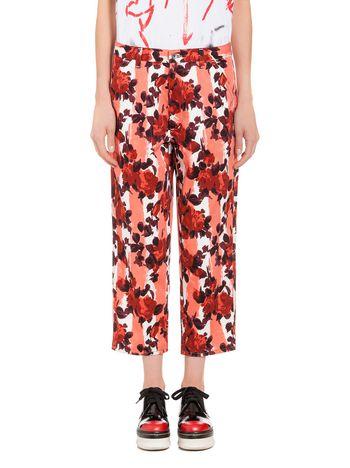 Marni Pants in cotton drill Anita print Woman