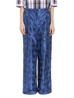 Marni Multi-pocket pants in brocade taffeta Woman