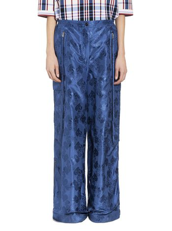 Marni Pantaloni multitasche in taffeta broccato Donna