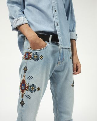 ISABEL MARANT JEANS Man JASPER embroidered jeans r