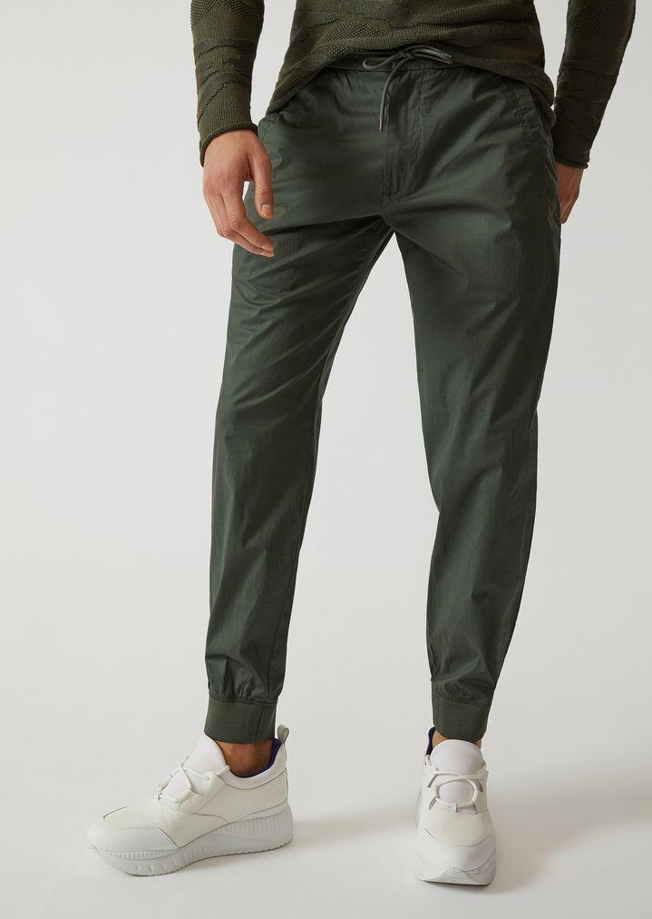 11c92ef999 Stretch cotton joggers | Man | Emporio Armani
