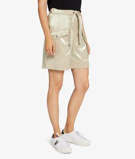 KARL LAGERFELD DRAWSTRING METALLIC SHORT