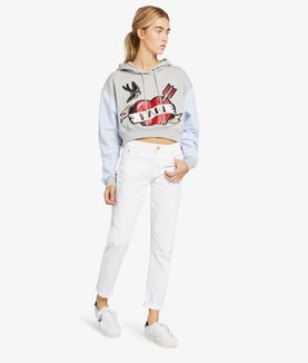 KARL LAGERFELD DISTRESSED GIRLFRIEND DENIM