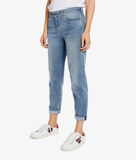 KARL LAGERFELD DISTRESSED BLUE DENIM