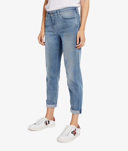 KARL LAGERFELD Distressed Blue Denim 12_f