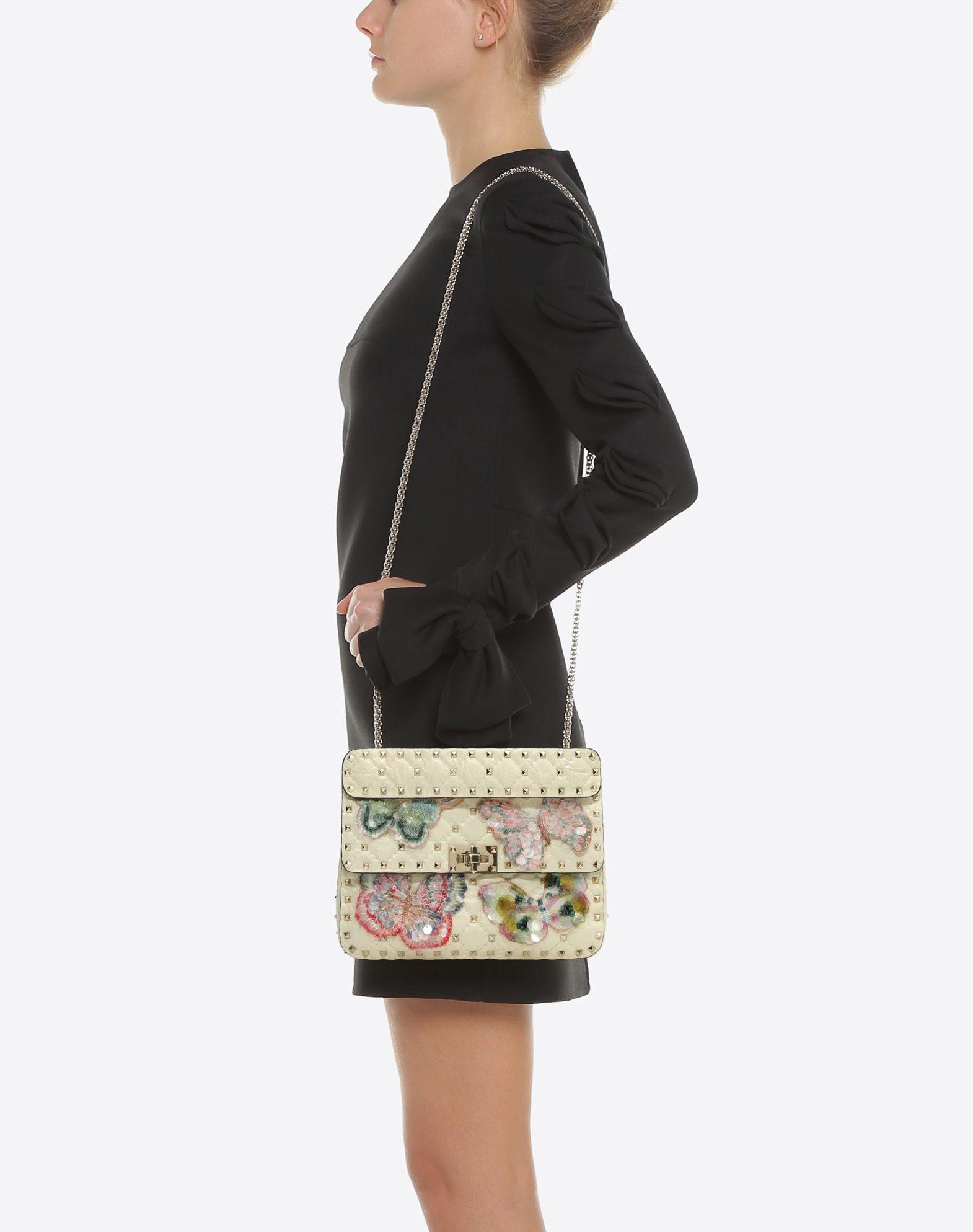 VALENTINO Rockstud Spike.It Medium Chain Bag Shoulder bag D a