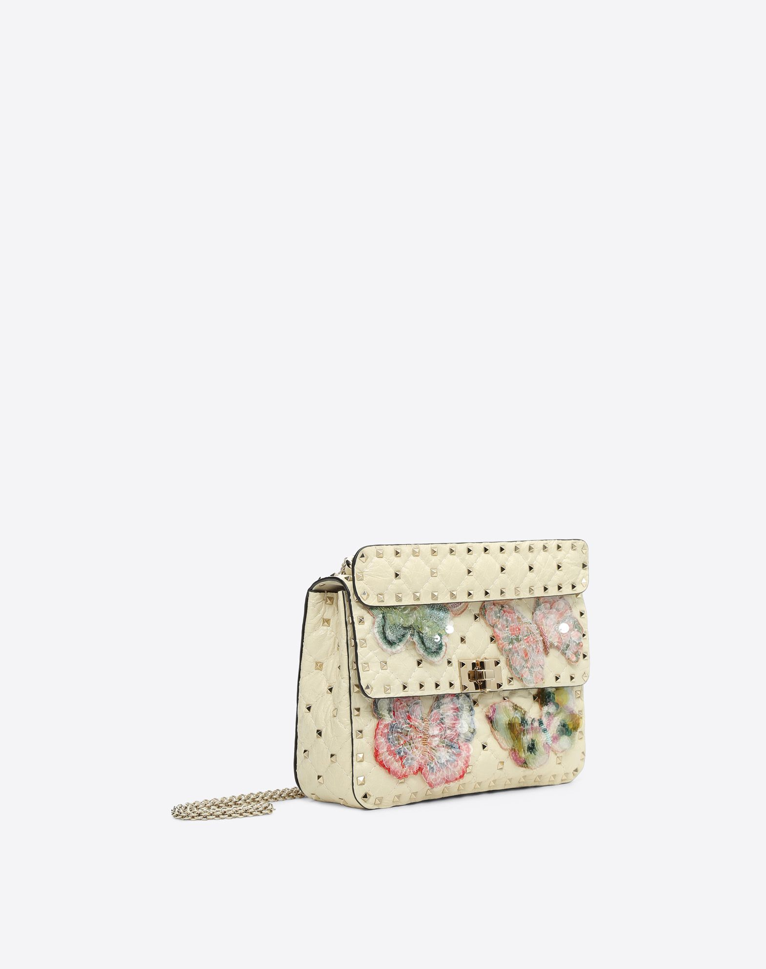 VALENTINO Rockstud Spike.It Medium Chain Bag Shoulder bag D r