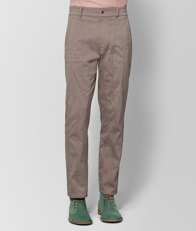BOTTEGA VENETA LIMESTONE COTTON PANT Trouser or jeans Man fp