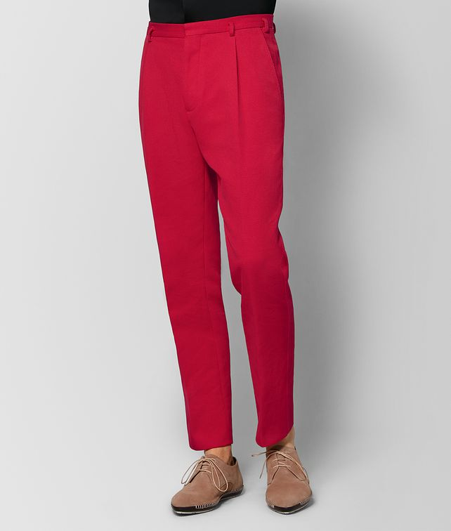 BOTTEGA VENETA CHINA RED COTTON PANT Trouser or jeans [*** pickupInStoreShippingNotGuaranteed_info ***] fp