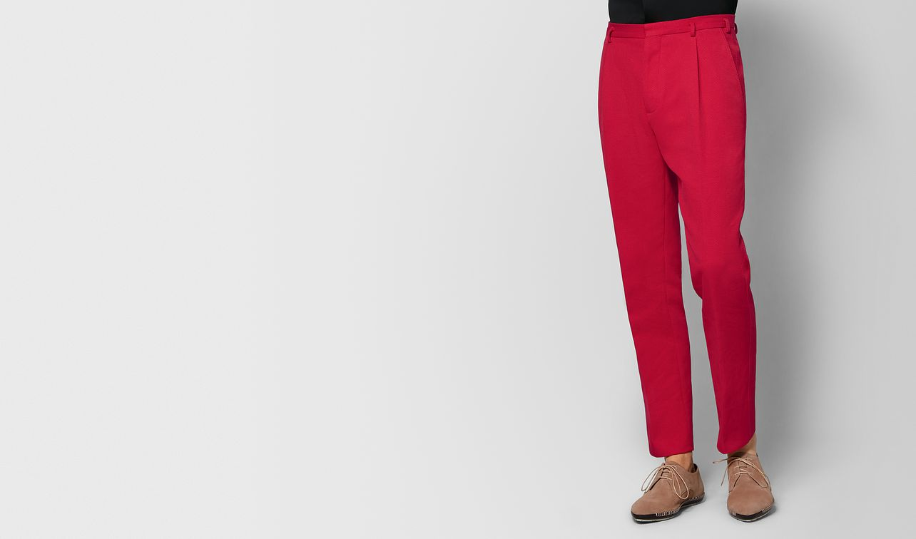 china red cotton pant landing