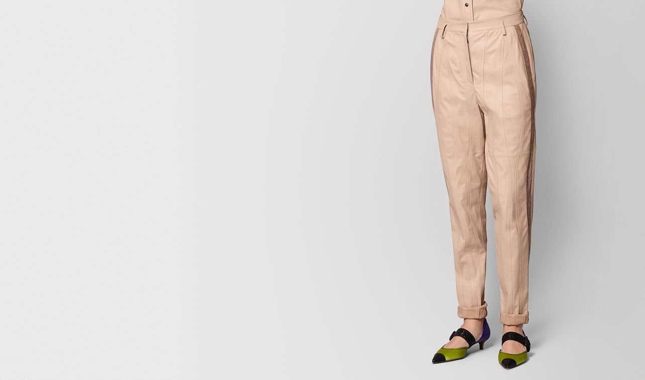 pantalone in agnello peach rose landing