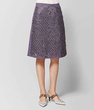 DARK LILAC COTTON SKIRT