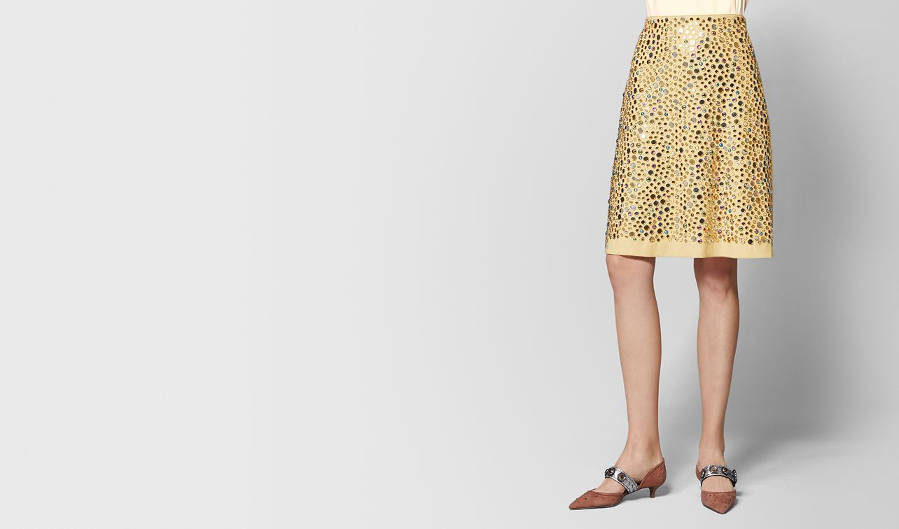 light butterscotch alcantara skirt landing