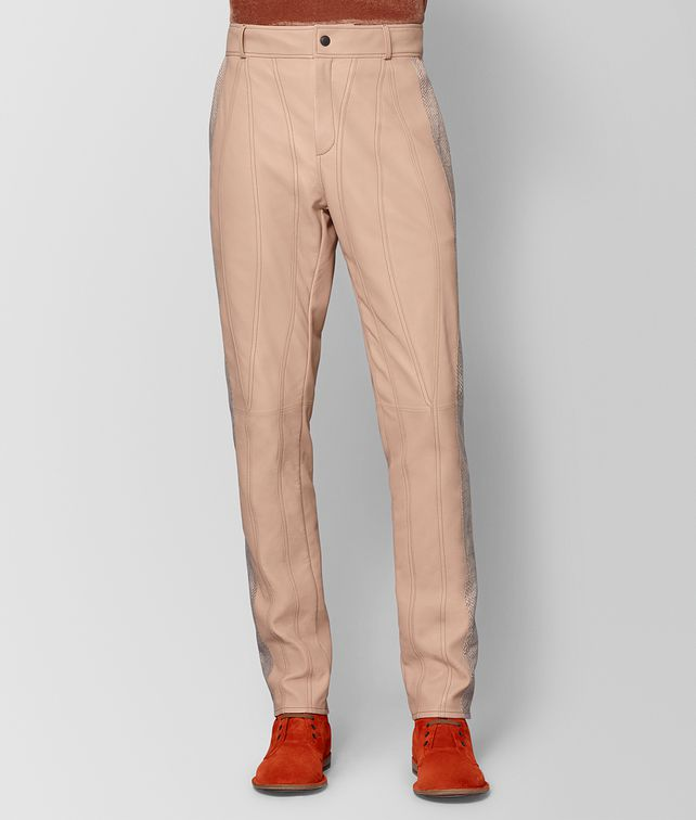 BOTTEGA VENETA PEACH ROSE LAMB PANT Trouser or jeans Man fp