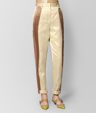 PANTALON EN SATIN VINTAGE BUTTERSCOTCH