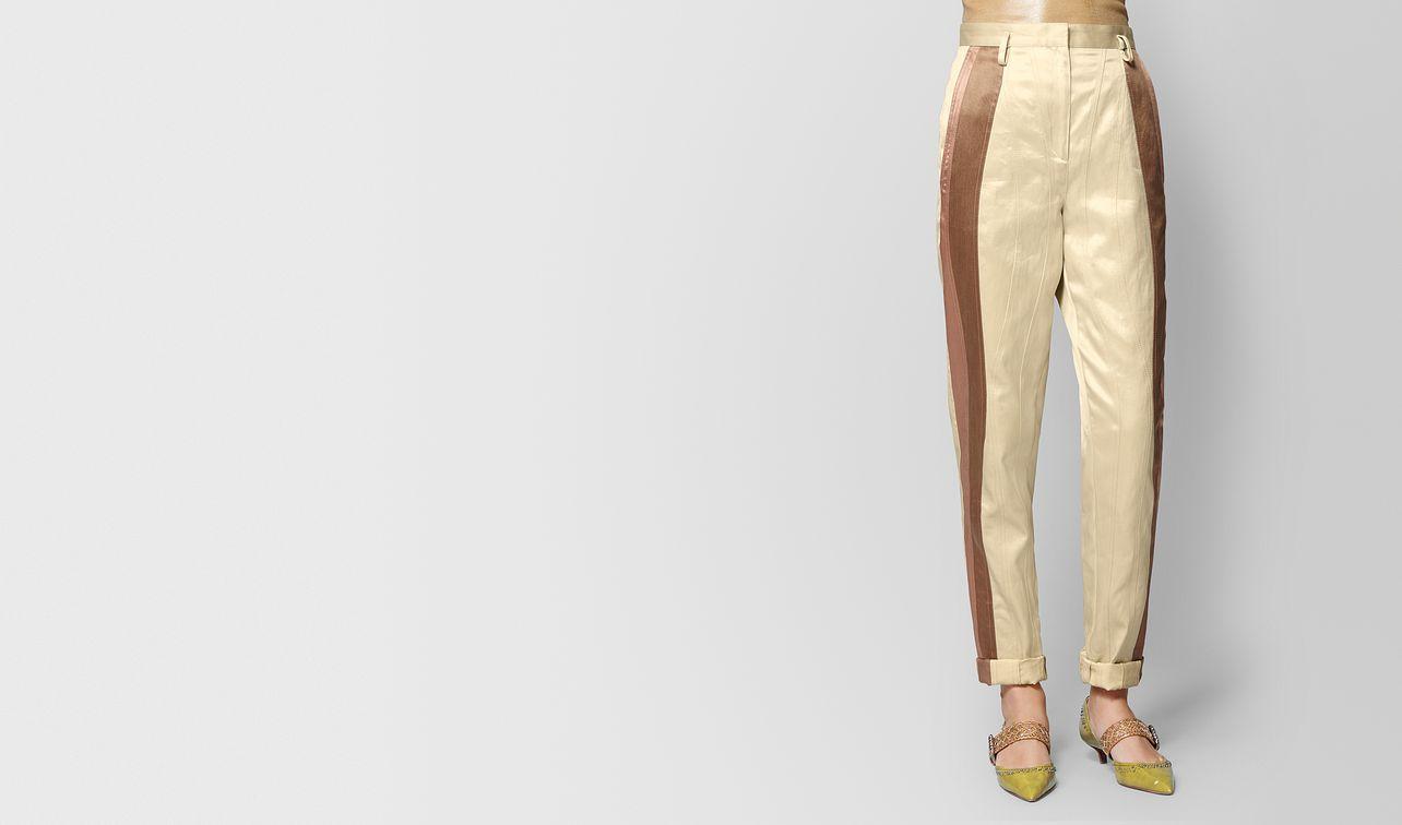 pantalone in vintage satin butterscotch landing