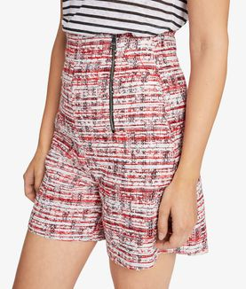 KARL LAGERFELD CAPTAIN KARL BOUCLÉ SHORTS