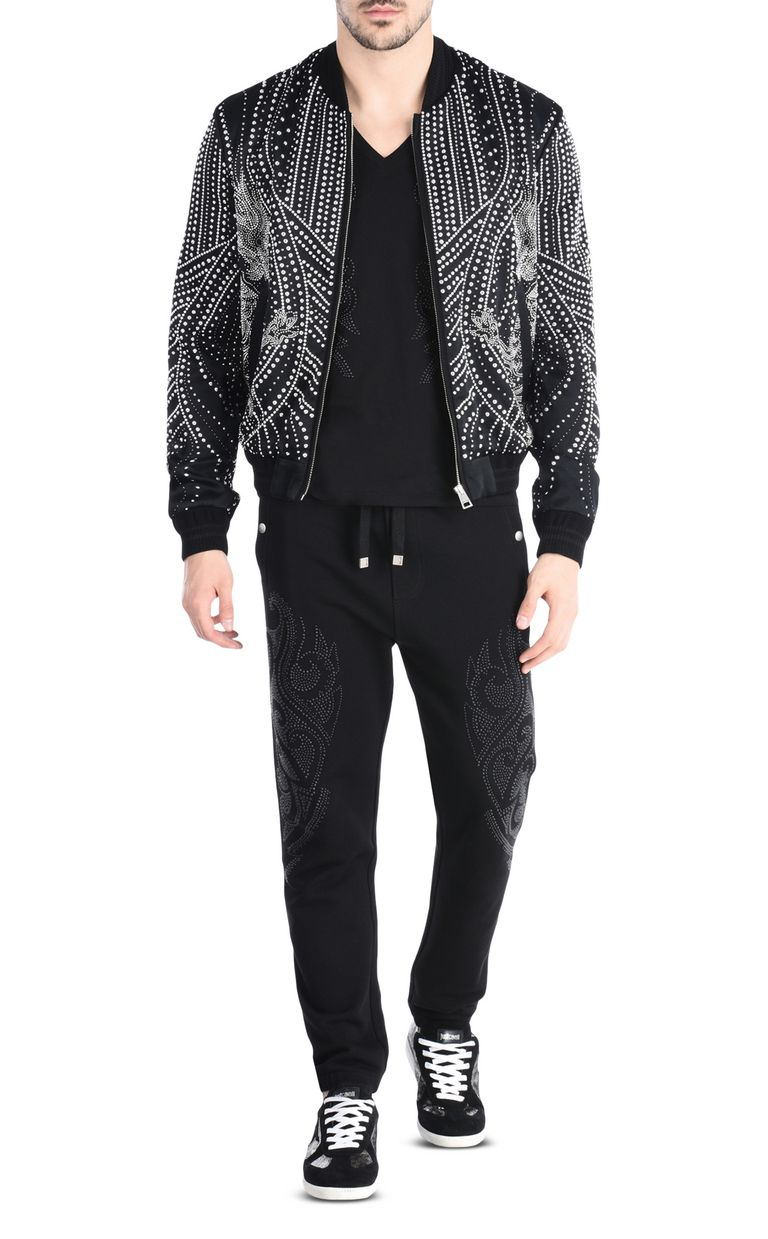 JUST CAVALLI Jacquard-effect joggers Casual pants Man r