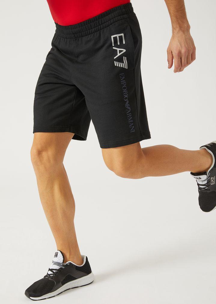 b142125984 Cotton Bermuda shorts with logo | Man | Ea7