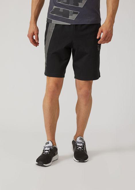 Shorts in puro cotone con logo
