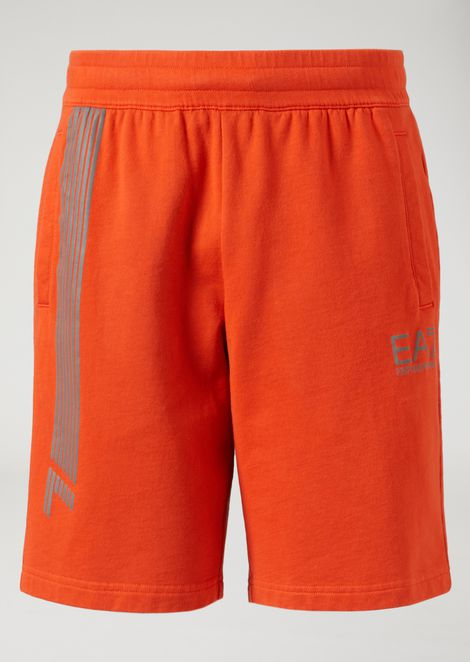 Shorts in pure cotton with logo
