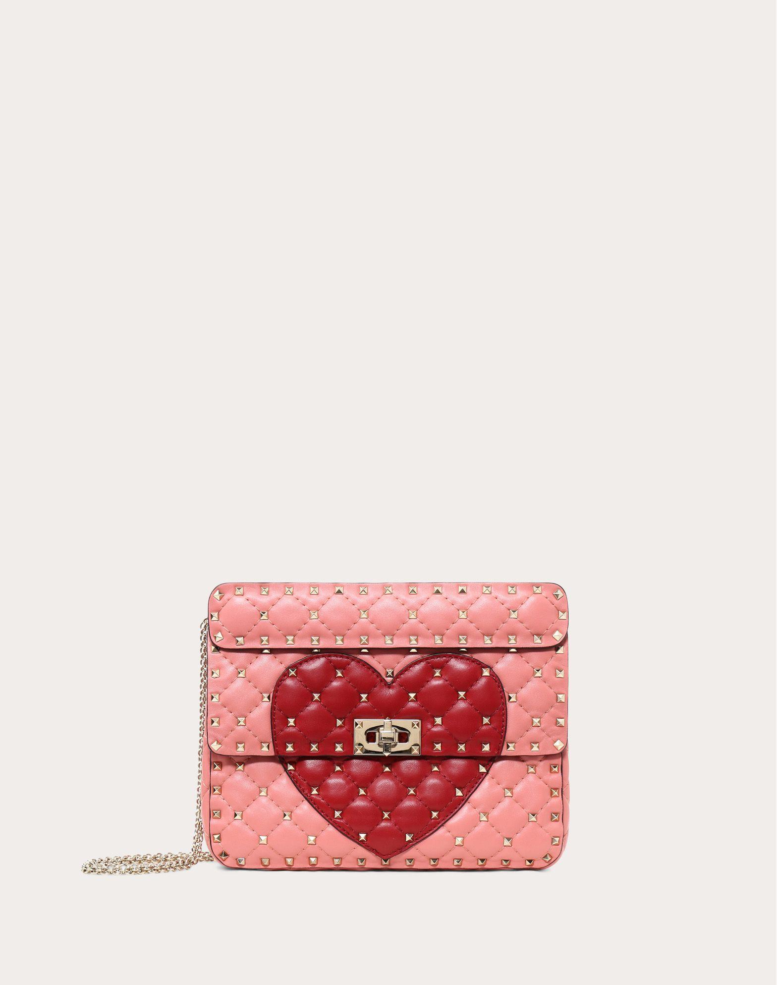 Valentino Garavani The Rockstud Two-tone Leather Shoulder Bag - Red Valentino GaJkJh24
