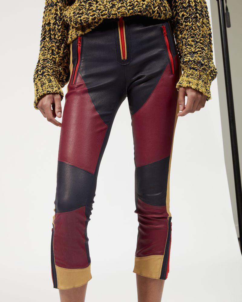 HAPPY zipped leather leggings ISABEL MARANT