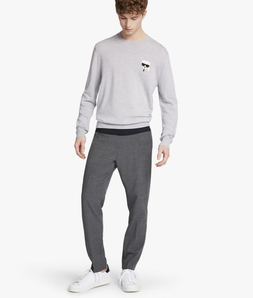 KARL LAGERFELD Tailored Wool Jogger 12_f
